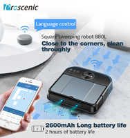 Proscenic Cocosmart 880L Robot aspirateur connectivité WiFi Alexa contrôle balayage vadrouille 2 en 1 télécommande Robot nettoyeur