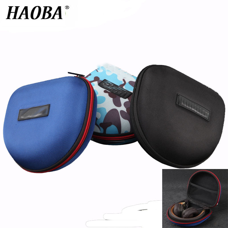 HAOBA Shockproof EVA Headphone Case Portable Storage Headset Bag High Quality Earphone Accessories Zipper Box For Marshall