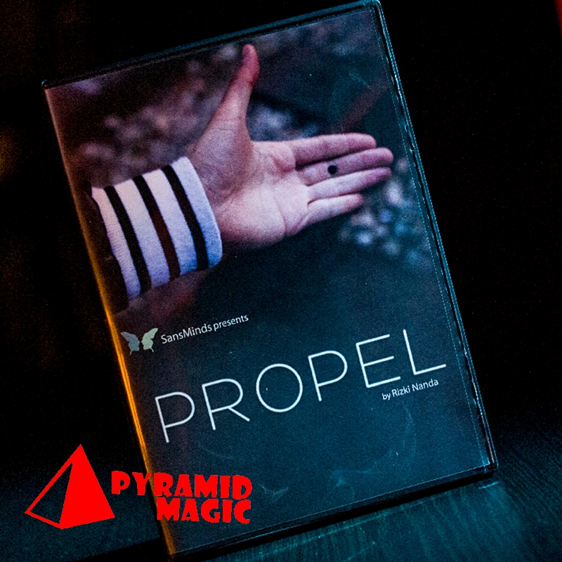 Propel (DVD and Gimmick) by Rizki Nanda and SansMinds / close-up street card magic trick / wholesale marumi mc close up 1 55mm