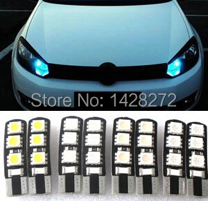 Car Styling 1pcs car T10 12V 5050 5W5 CAR/BOAT/ LED car lights license plate Auto  Projector Lens Parking Interior led lamp