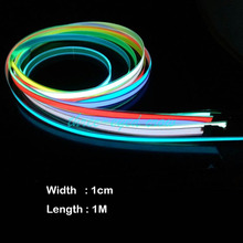 Free Shipping New Arrival Six Colors Flexible Electroluminescent Tape EL Wire Tape Panel Glowing With 3V AA Battery Inverter inverter operation panel jvop 180 new original