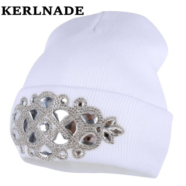 ad7add2ab women wool winter hat brand skullies beanies Custom designer luxury  rhinestone style warmer casual winter hats girl beauty gorro