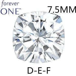 Test positif certifié Charles Colvard Forever One 2 Carats effet VS DEF couleur coussin coupe pierres de diamant Moissanite en vrac