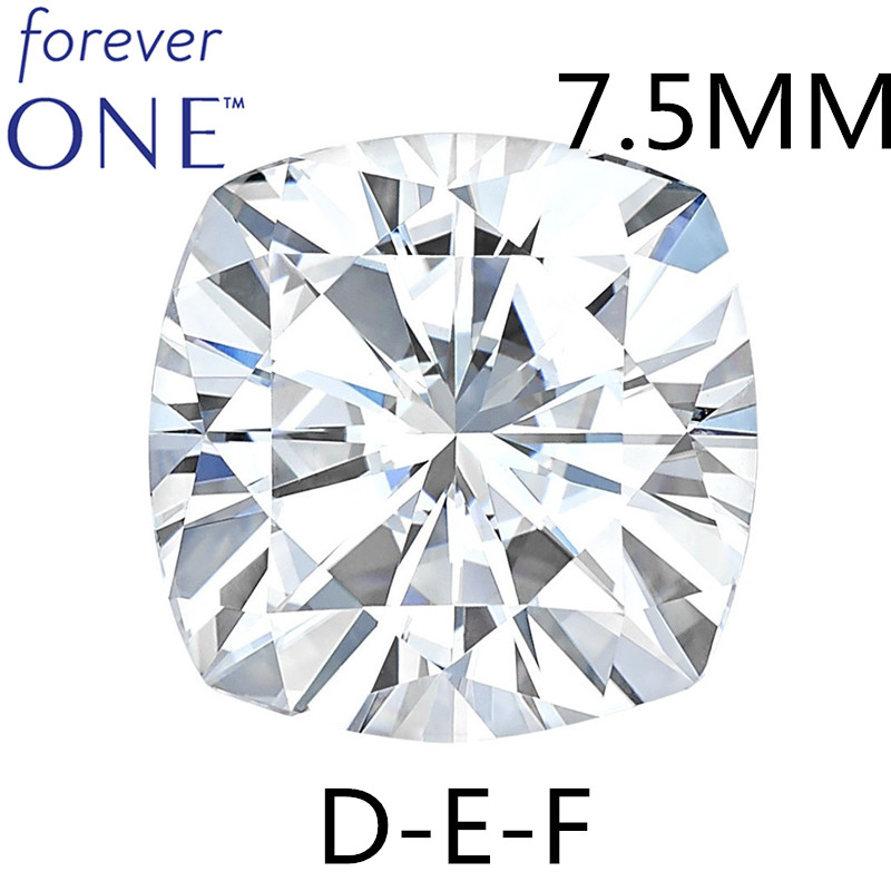 Us 988 88 Testing Positive Certified Charles Colvard Forever One 2 Carats Effect Vs Def Color Cushion Cut Loose Moissanite Diamond Stones In Loose