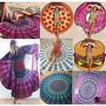 Bohemian Mandala Round Beach Tapestry Hippie Throw Yoga Mat Towel Indian Roundie