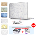 Print White Grey Marble Laptop Accessories Hard Cases Cover For Macbook Pro 13 Case Pro 13 15 Retina Laptop Skin Protector Shell