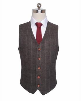 Custom Made Woolen dark brown Herringbone Tweed   4