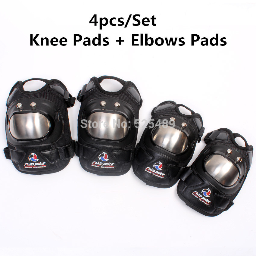 New 4pcs Set Motorcycle Racing Knee Pads And Elbows Pads font b Motorbike b font knee
