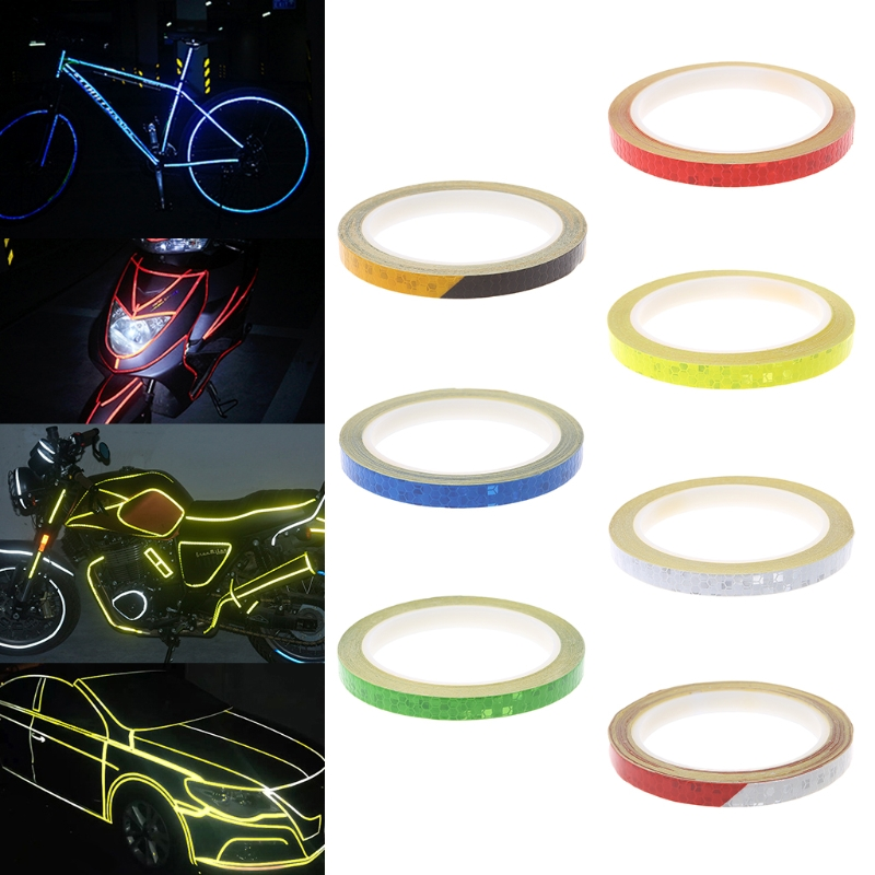 Bicycle Reflector Reflective Sticker Safety Warning Cycle Fluorescent Decal Tape 8m 1cm colorful reflective stickers strip motorcycle bicycle fluorescent reflector safety rim decal tape for motorbike bike