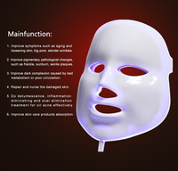 7 Colors led light therapy mask mask face led mask for ance removal