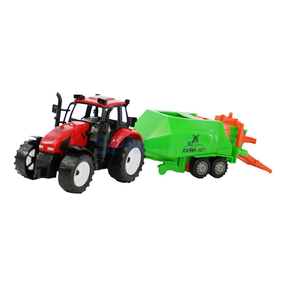 Kids/Boys 1:30 Scale Diecast Model Farm Tractor Truck Toy Gift-Red&Green