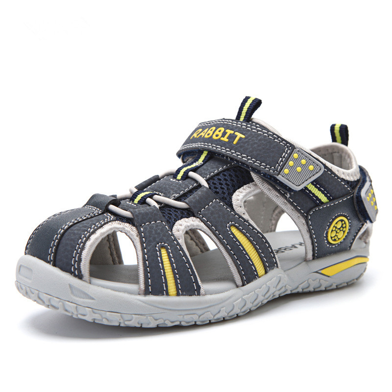 2018 Brand Boys and Girls Leather Net Sandals, Children Sports shoes 3color size 25-37, for kids 3y-15y