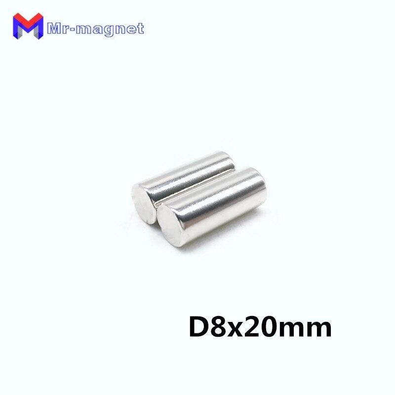 Nett 100 Stücke 8x20mm Neodym Magnet Disc Permanent N35 Kleine Runde Super Magnetische Materialien Starken Ndfeb Magnetische Magneten Für Handwerk 8*20 D8x20
