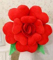 Groothandel, gratis verzending, 1 stks/partij Festival Gift, romantische Valentijn gift, Rose bloem Rugkussens kussens 30-60 cm