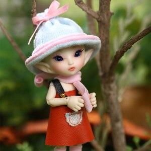 Image 3 - FreeShipping Fairyland FL Realpuki Roro Doll BJD 1/13 Pink Smile Elves Toys for Girl Tiny Resin Jointed Doll