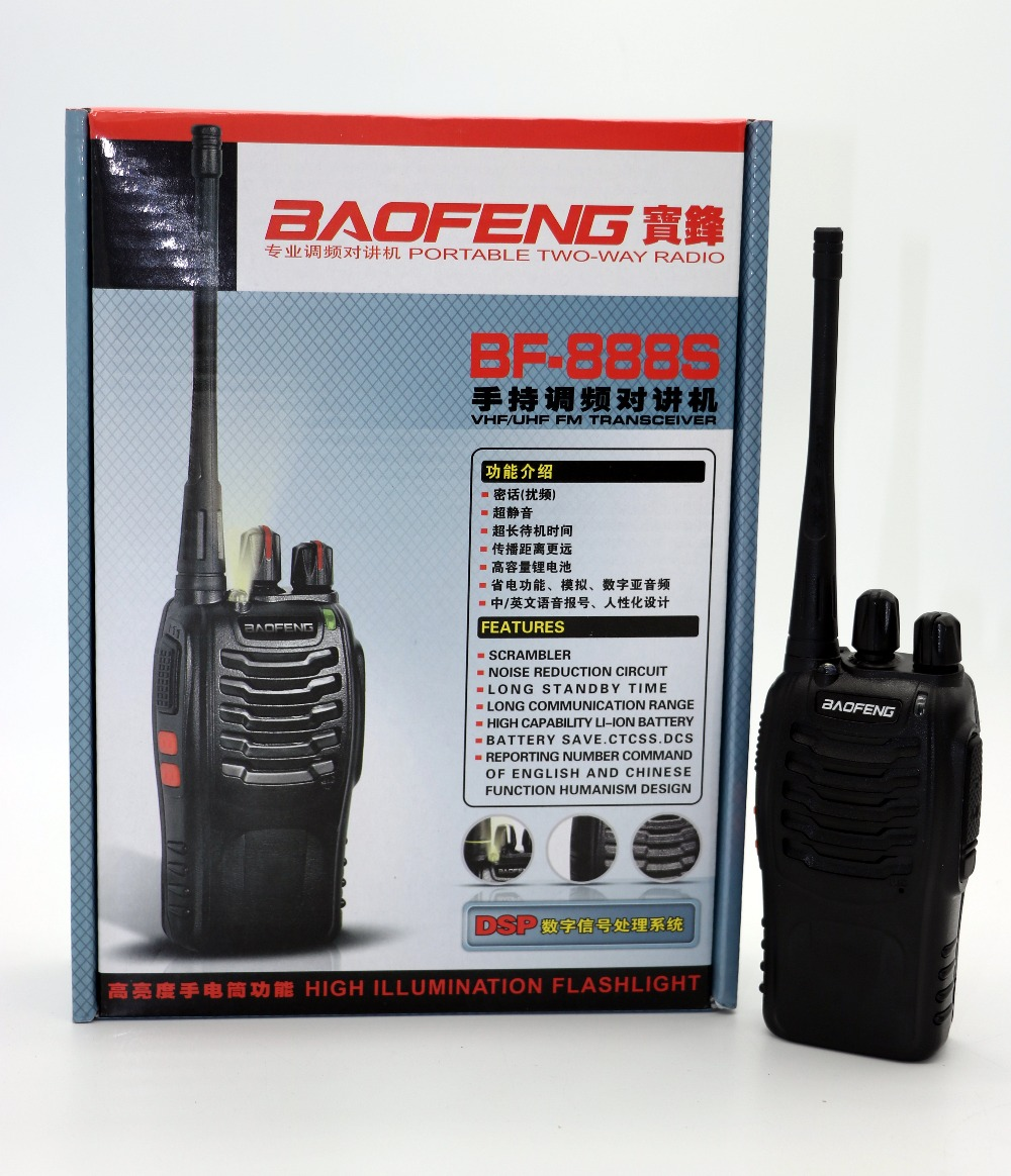 baofeng BF 888S Walkie Talkie Portable Radio BF888s 16CH 5W UHF 400 470MHz BF 888S Comunicador