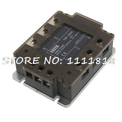цена на 4-32V DC Input 24-380V AC Output Three 3 Phase Solid State Relay SSR 80A w Cover
