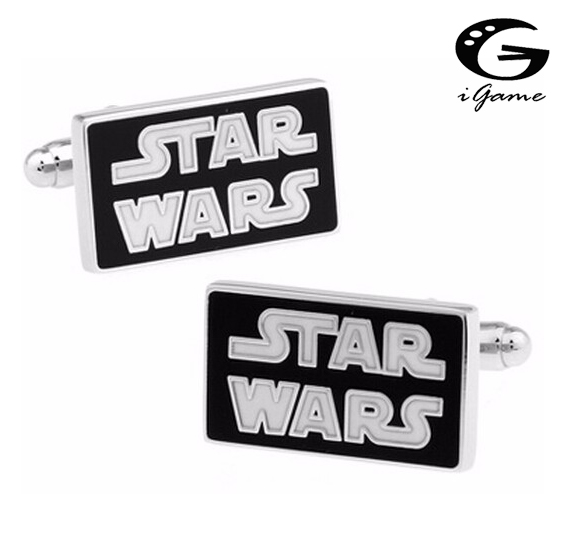 IGame Factory Retail French Cufflinks Black Color Star Wars Design Cuff Links