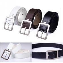 Men Artifical leather Belt Men Belt Fashion Luxury Strap Male Wait Band Waistband Retro Buckle Belt  black white brown belt #5 belt male casino cas12 fact black black