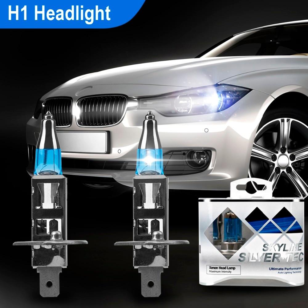 2 шт. 12V H1 100W 4300K Авто галогенные светильник белый HOD головной светильник лампы авто лампы Супер яркий фонарь светильник s Универсальные фары