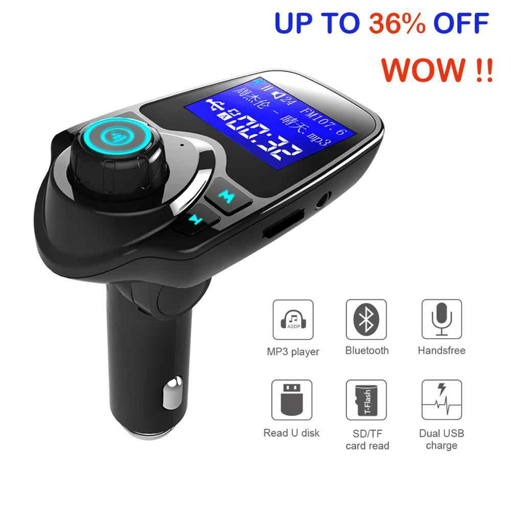 Siparnuo Car fm transmitter bluetooth car transmiter 12V fm modulator 2 USB Car Charger transmissor fm Car kit