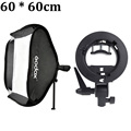 "Godox 60*60 cm/24 ""* 24"" Difusor de Flash Photo Studio Softbox con Bowens s-type Soporte Holder para Speedlite de Luz de Flash"