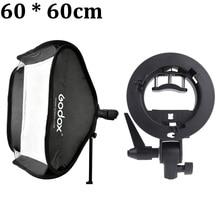 """Godox Estudio Fotográfico Kit de Luz de Flash Softbox 60×60 cm/24 """"* 24"""" + Tipo S Soporte Bowens Monte Speedlite Caja Suave 60×60 cm Conjunto"""
