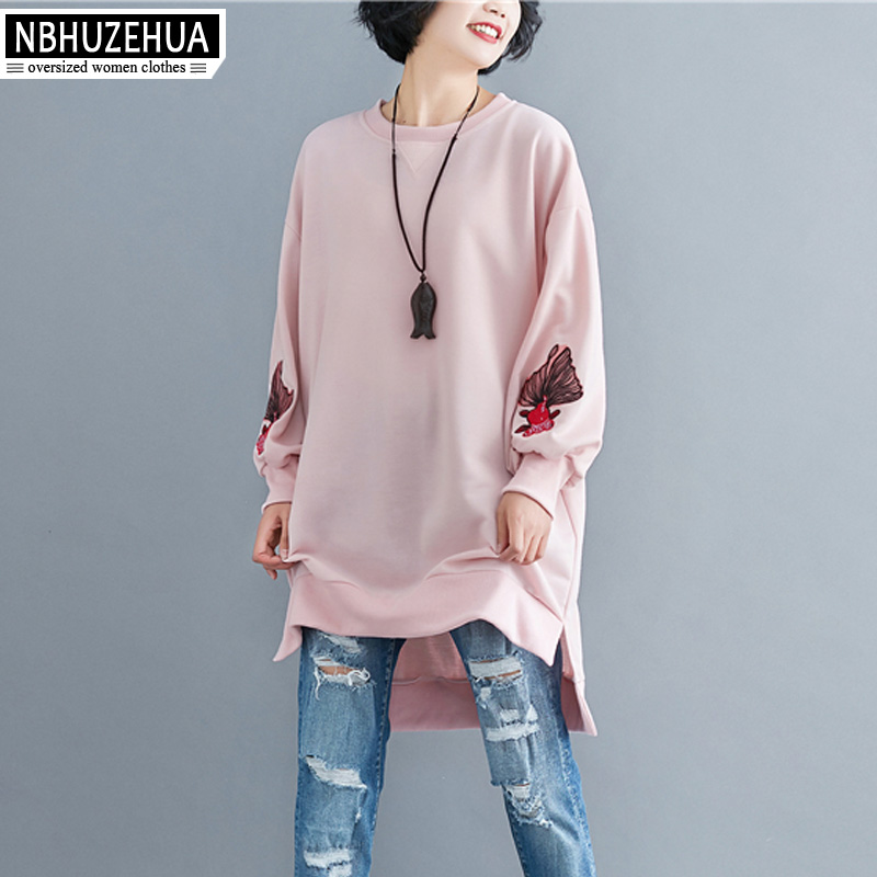 Aliexpress.com   Buy NBHUZEHUA T961 5XL 6XL Women s Embroidery Tops Big Size  Loose Long Pink White Cotton Loose Vintage Blouse Shirt Chemise Femme from  ... 28f4fe1b83cb