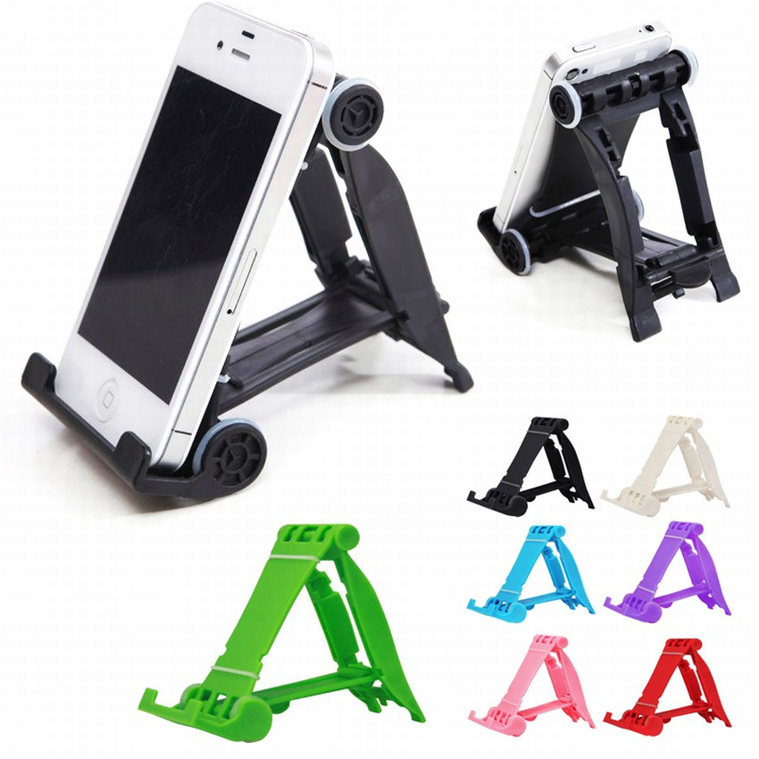 Etmakit Newest Diverse Colors Universal Portable Colorful Phone Holder Foldable Mobile Phone Stents Stand Multi-Colors
