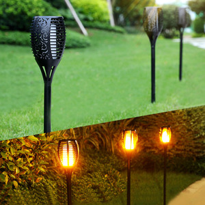 Image 2 - 2 Pcs Outdoors Flame Lamp Decoration IP65 Waterproof Garden Landscape Path 96 LED Lighting Torch Garden Pathway Lawn Decoration