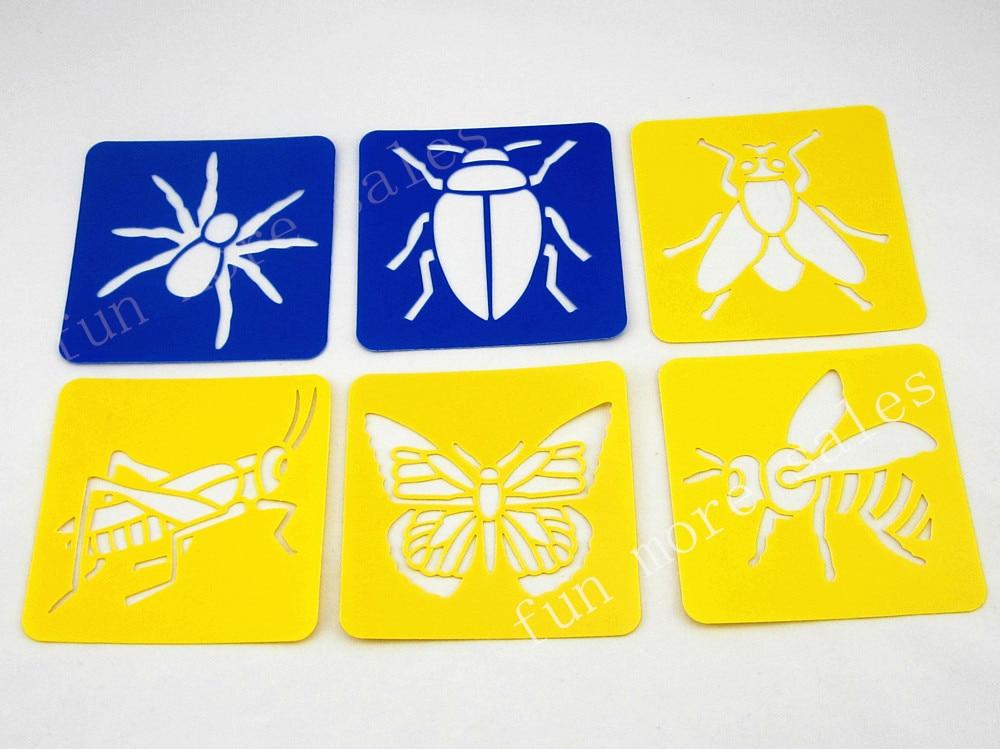 12Diseños / set Plantillas para pintar Plantillas de dibujo Big bug - Educación y entrenamiento - foto 2
