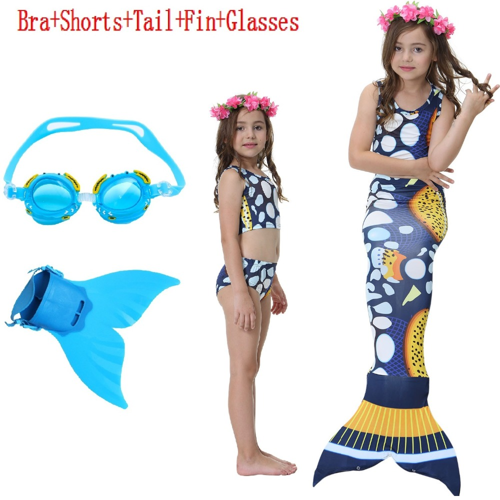 Child's Wear Split Swimsuit Little Mermaid Tails for Swimming Costume Mermaid Tail Cosplay Girls mable suit Clothing Swimwear