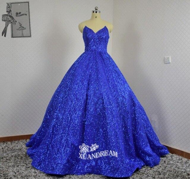 XUANDREAM 100% Real made photo vestidos de novia bling bling evening ...