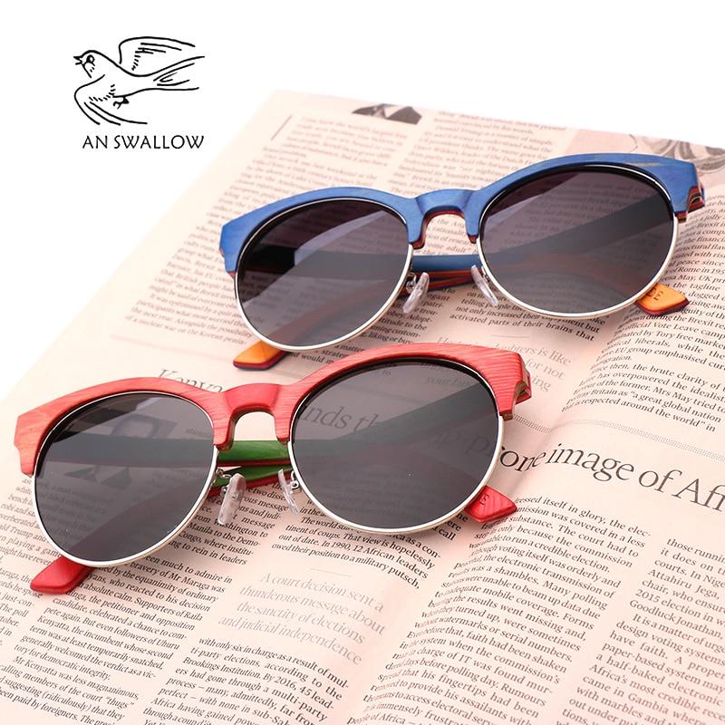 Image 4 - 2019 New Skateboard Wood Polarized Semi frame Sunglasses for Men TAC Lens UV400 Anti retro Ultraviolet SunglassesMens Sunglasses   -