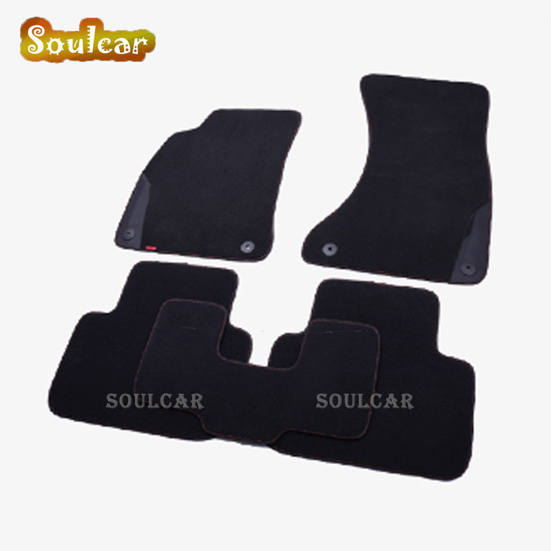 Premium Fabric Nylon Suede Washable Car floor mats for AUDI A8 A8L S8 D2 D3 D4 2000-2017 Floor foot carpet LINERS MATS 0001108175 0986018340 458211 new starter for audi a4 a6 quattro volkswagen passat 2 8 3 0 4 2 l