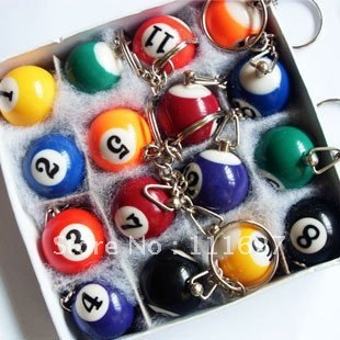 Free Shipping big billiards key ring /bird keychain/great gift/cufflinks wholesale Ll-01-120
