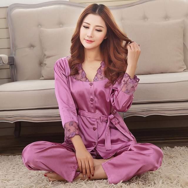 2750946fd8 1pc Female-pajama Autumn Winter Womens Pajama Sets Comfort Night Wear Home  Clothes Top Pants