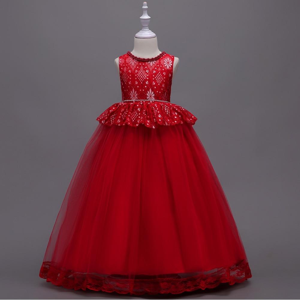 Lace Formal Evening Wedding Gown Tutu Princess Dress Flower Girls ...