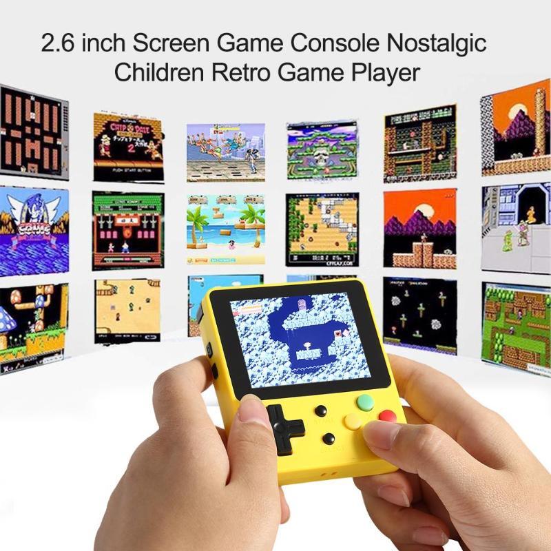 Rétro portable LDK Console de jeu écran 2.6 pouces intégré 400 jeu Mini Console de jeu portable nostalgique enfants Console