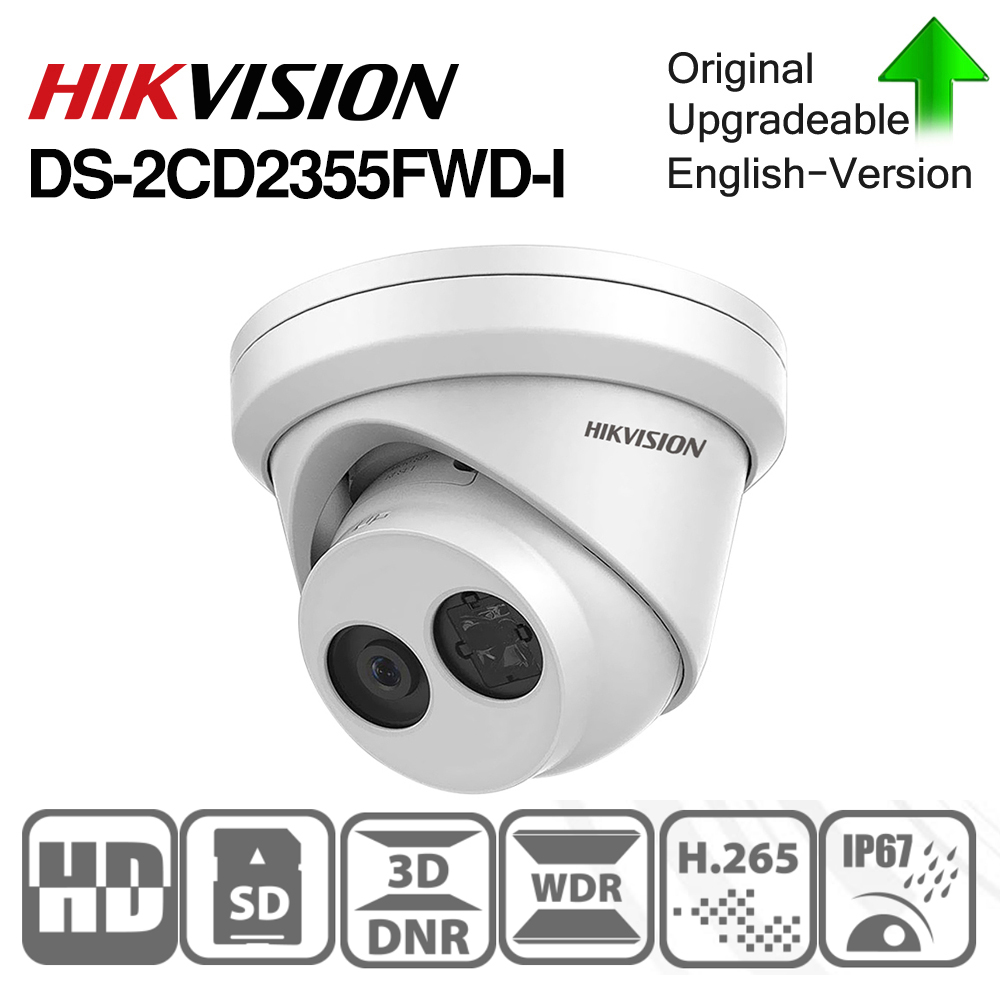 Image 1 - HIKVISION H.265 Camera DS 2CD2355FWD I 5MP IR Fixed Turret Network Camera MINI Dome IP Camera SD card slot Face Detect-in Surveillance Cameras from Security & Protection