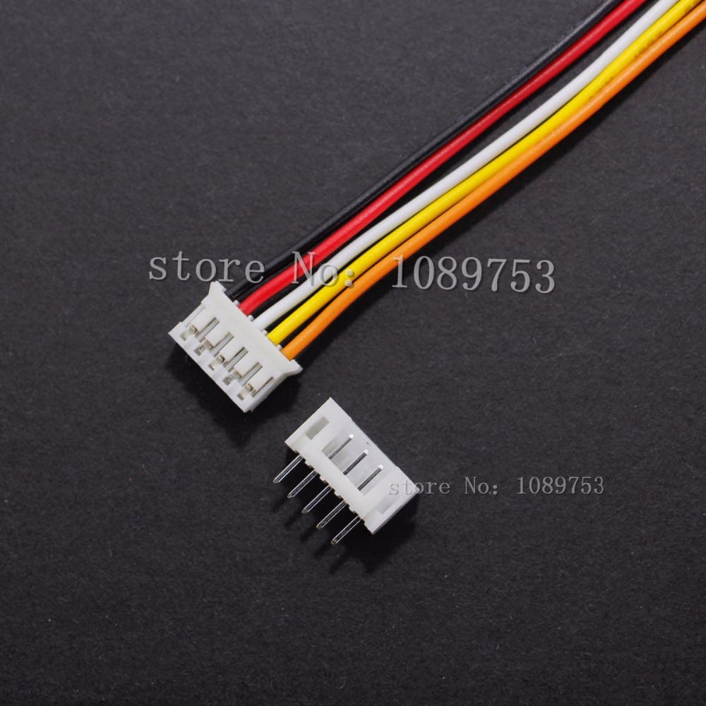 50 SETS Mini Micro JST 2.0 PH 5-Pin Connector plug with Wires Cables 100MM 10CM mini micro jst 2 0mm t 1 6 pin connector w wire x 10 sets 6pin 2 0mm