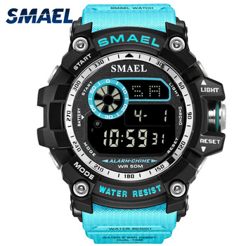 SMAEL Digital Relojes hombres gran Dial deporte reloj de 50 m LED  resistente al agua reloj Digital de luz 8010 hombres Digital reloj deportivo 85344224c6fa