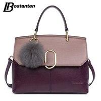 BOSTANTEN Genuine Leather Women Bag Sequined Fashion Women Famous Brands Designer Handbag High Quality Shell Shoulder