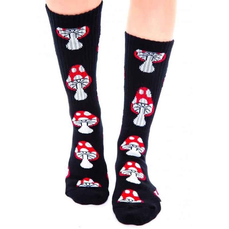 Fashion Mushroom Retro Cartoon Tube Socks Men & Women Tide Brand Thread Skateboard GD Summer Style men's Brand socks
