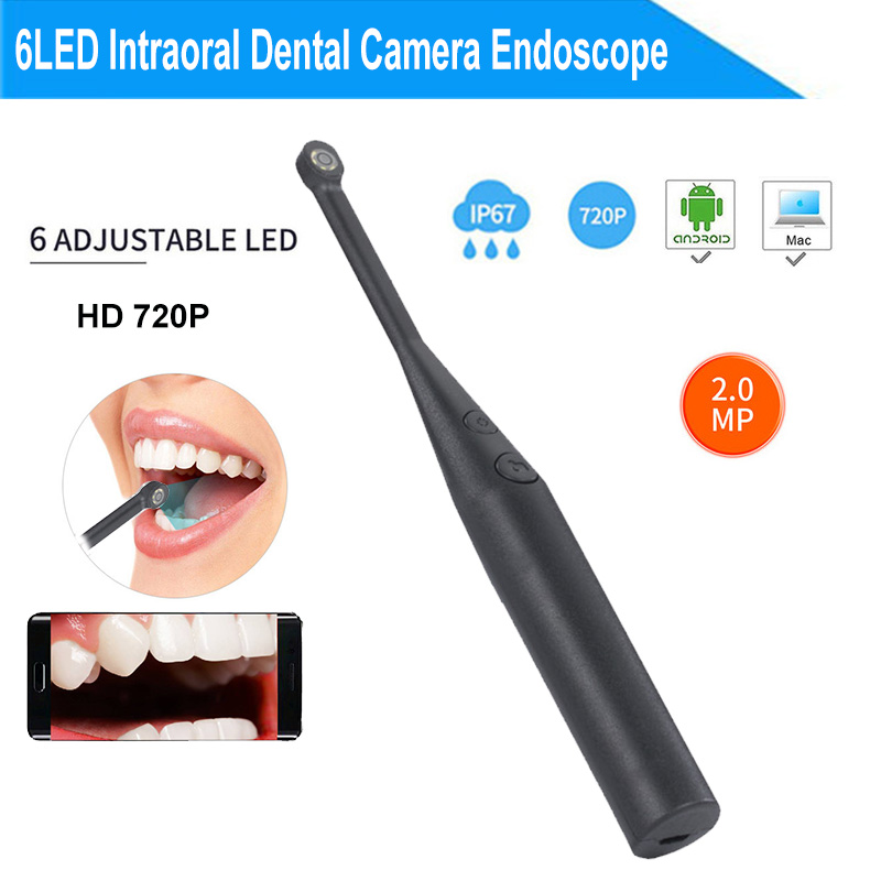 2MP 720P Intraoral Dental Camera Endoscope 6LED USB Micro-check Inspection Oral Real-time Inspect Camera Otoscopio Tooth Camera