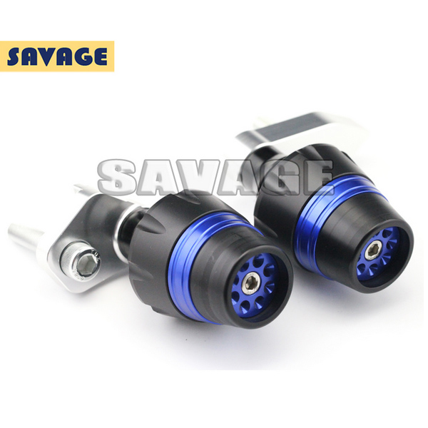 For SUZUKI GSX-S 1000 2015-2016 Motorcycle Frame Sliders Crash Protector Falling Protection New Design Blue