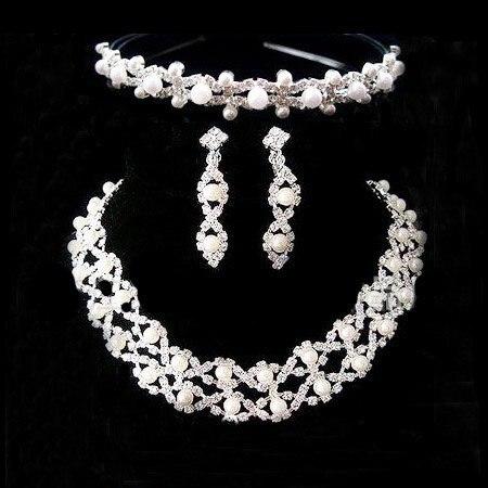 A018-3 Корона Тиара Neckace серьги Ювелирные наборы Горный Хрусталь Кристалл Для Женщин Свадебные Подарки Оптом O-Q-TZ027-27 ABC