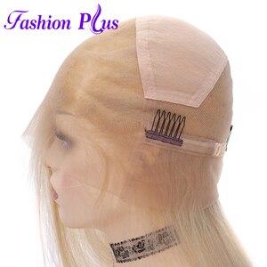 Image 5 - Tam sırma insan saçı Peruk Ön Koparıp 613 sarışın Brezilyalı Remy Saç Peruk kadın peruk Peruk 14 24 Olabilir özelleştirilmiş