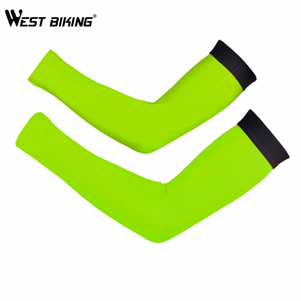 WEST BIKING Cycling Arm Armwarmer Manguitos Ciclismo Brazo UV Protection Sleeves Arm MTB Riding Bike Bicycle Cycling Arm Warmers