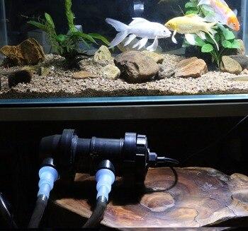 JEBO UV Quartz Sterilizer Lamp Light Ultraviolet Filter Clarifier Water Cleaner For Aquarium Pond Coral Koi Fish Tank Kill algae